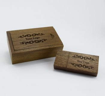 8gb dark wooden block usb small dark wooden slide gift box