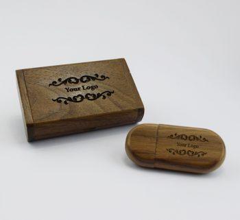 product 8gb dark wooden pebble usb small dark wooden flip gift box