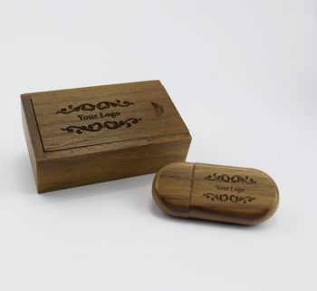 dark wooden pebble usb small dark wooden slide gift box