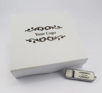 product 32gb hermes usb large white magnetic flip photo prints gift box