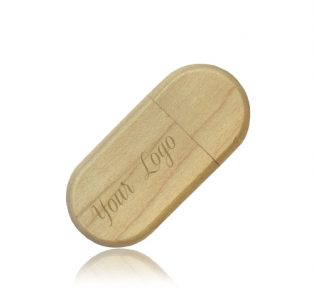 Wooden Pebble USB Drive