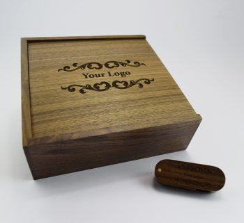 product 8gb dark wooden twister usb large dark wooden slide photo print gift box