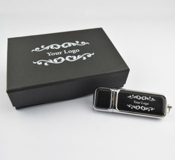 hermes usb small black magnetic flip gift box combo