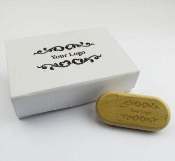 usb wooden pebble small white magnetic flip gift box