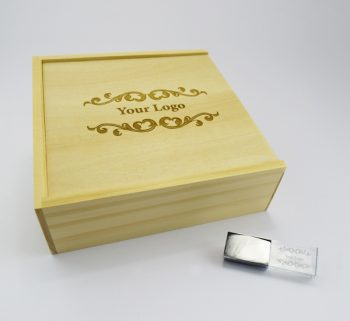 product 32gb usb crystal large wooden slide photo print gift box combo