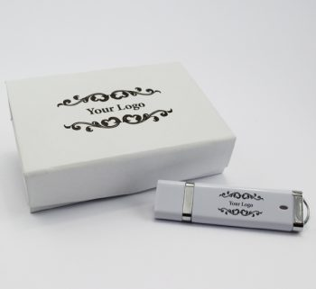 usb dixie small white magnetic flip gift box