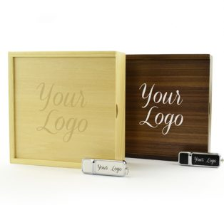 Wooden Photo Prints Gift Box Hermes