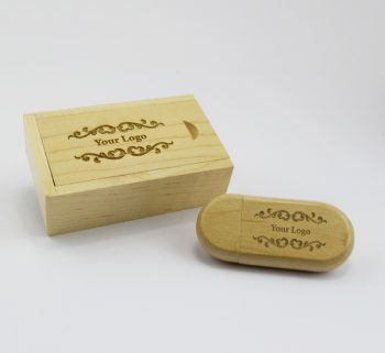 light wooden pebble usb small light wooden slide gift box