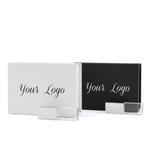 White Black Magnetic Flip Gift Box Crystal